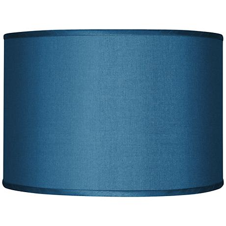 Blue Textured Faux Silk Shade 12x12x8.5 (Spider)
