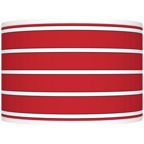 Bold Red Stripe Giclee Shade 12x12x8.5 (Spider)