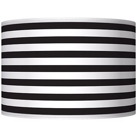 Black Horizontal Stripe Giclee Shade 12x12x8.5 (Spider)