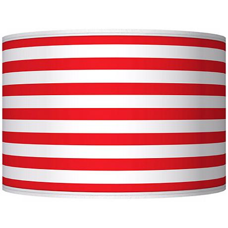 Red Horizontal Stripe Giclee Shade 12x12x8.5 (Spider)