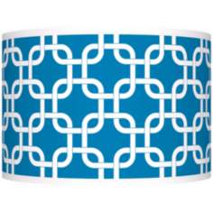 Blue Lattice Giclee Shade 12x12x8.5 (Spider)