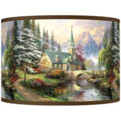 Thomas Kinkade Dogwood Chapel Shade 12x12x8.5