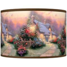 Thomas Kinkade Glory of Evening Shade 12x12x8.5