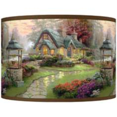 Thomas Kinkade Make a Wish Cottage Shade 12x12x8.5