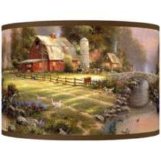 Thomas Kinkade Sunset at Riverbend Farm Shade 12x12x8.5