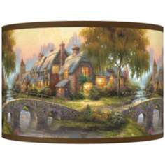 Thomas Kinkade Cobblestone Bridge Shade 12x12x8.5