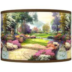 "Thomas Kinkade Living Waters Golfer's Paradise 8.5""H Shade"