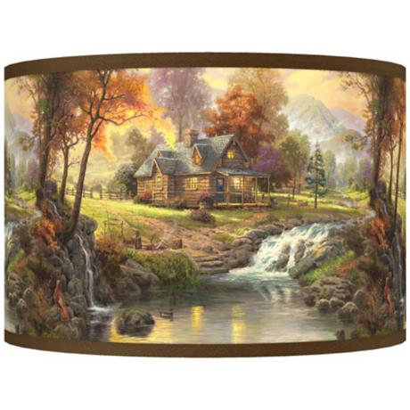Thomas Kinkade Mountain Retreat Shade 12x12x8.5