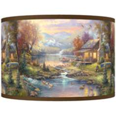 Thomas Kinkade Nature's Paradise Shade 12x12x8.5