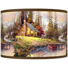Thomas Kinkade A Peaceful Retreat Shade 12x12x8.5