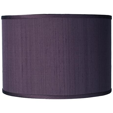 Eggplant Faux Silk Drum Shade 12x12x8.5 (Spider)