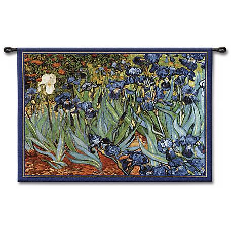 "Irises 53"" Wide Wall Tapestry"