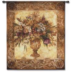 "Bouquet Urn 53"" High Wall Tapestry"