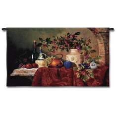 "Caprician Feast 53"" Wide Wall Tapestry"
