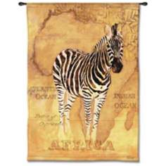 "Zebra Safari 53"" High Wall Tapestry"