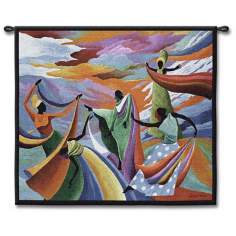 "Dancing in Heaven 53"" Wide Wall Tapestry"