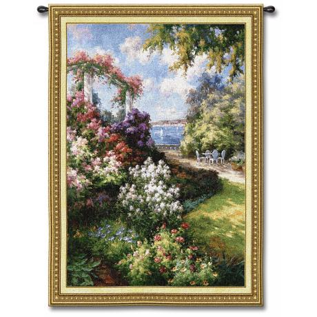 "Oceanside Garden 53"" High Wall Tapestry"