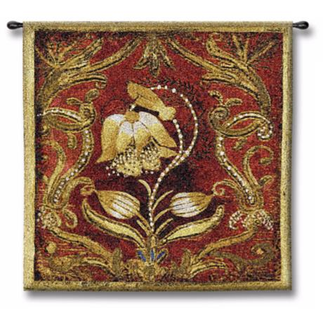 "Celtic Bloom 26"" Square Wall Tapestry"
