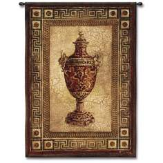 "Grecian Urn 53"" High Wall Tapestry"