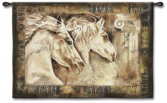 "Wild Horses 53"" Wide Wall Tapestry (J8653)"