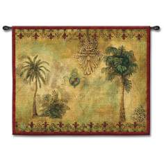 "Regal Palms 53"" Wide Wall Tapestry"