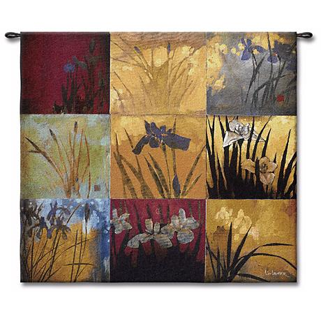 "Patchwork Iris 53"" Square Wall Tapestry"