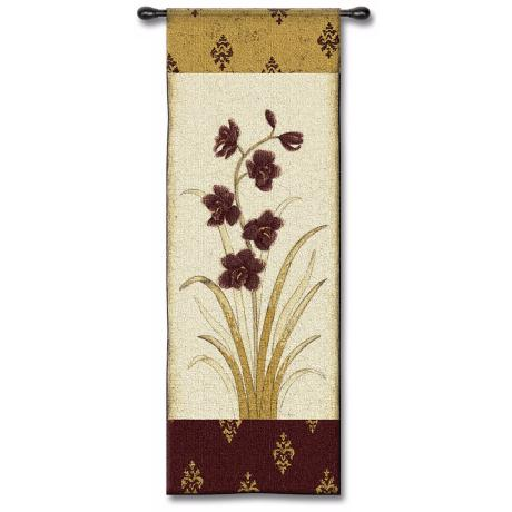 "Plum Orchid 53"" High Wall Tapestry"