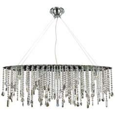 "Divine Ice Swarovski Strass 38"" Wide Ceiling Pendant Light"