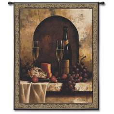 "A Toast 53"" High Wall Tapestry"