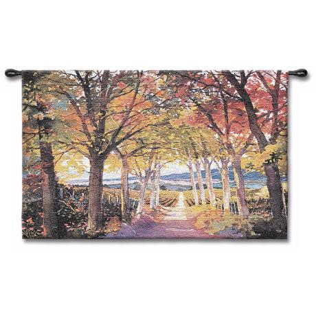 "Autumn Afternoon 53"" Wide Wall Tapestry"