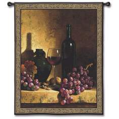 "Midnight Merlot 53"" High Wall Tapestry"