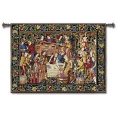 "Late Harvest 75"" Wide Wall Tapestry"