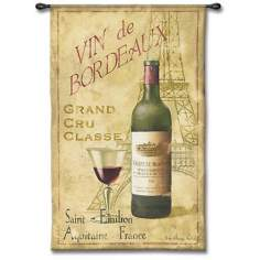 "Vin de Bordeaux 53"" High Wall Tapestry"