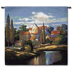 "Autumn Chateau 53"" Square Wall Tapestry"