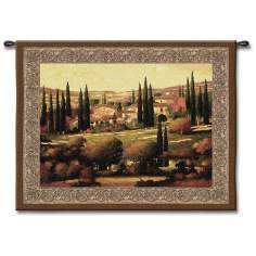 "Golden Tuscany 53"" Wide Wall Tapestry"