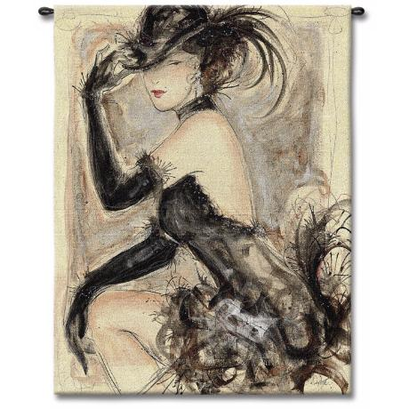 "Lady Caberet 53"" High Wall Tapestry"
