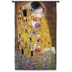 "Passionate Embrace Small 53"" High Wall Tapestry"