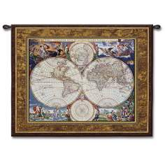 "Voyagers Map 52"" Wide Wall Tapestry"