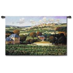 "Vignoble De Provence 53"" Wide Wall Tapestry"