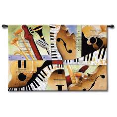 "Hot Jazz 52"" Wide Wall Art"
