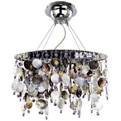 "Midnight Pearl 15"" Wide Pendant Chandelier"