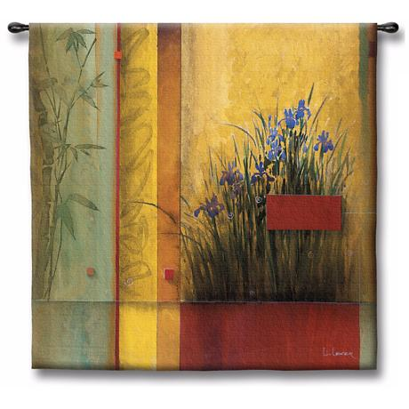"Bamboo Dreams 35"" Square Wall Tapestry"