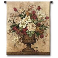 "Rosy I Urn 32"" High Wall Tapestry"