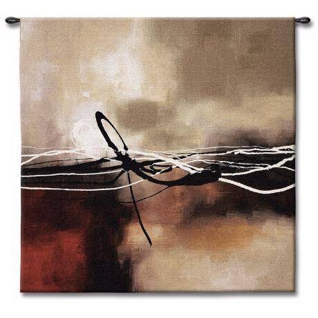"Dreams in Claret and Black II 53"" Square Wall Tapestry"