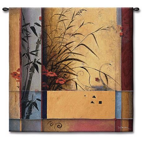 "Bamboo Garden 53"" Square Wall Tapestry"
