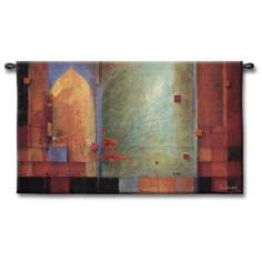 "Archways and Abstracts 53"" Wide Wall Tapestry"