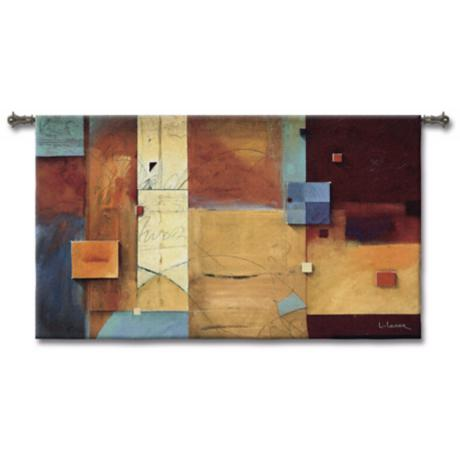 "Squares 93"" Wide Wall Tapestry"