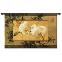 "The Bamboo Orchid I 39"" Wide Wall Tapestry"