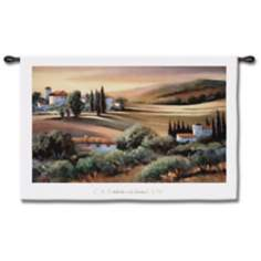 "A Light in Tuscany 53"" Wide Wall Tapestry"
