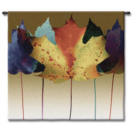 "Leaf Spectrum 53"" Square Wall Tapestry"